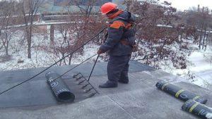 ремонт гидроизоляции кровли зимой