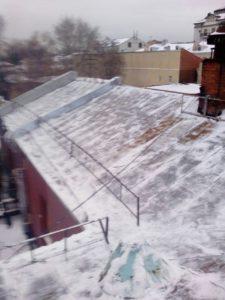 Очистка крыш снега казань