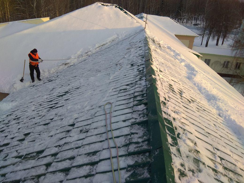 Нормы очистки кровель от снега и наледи