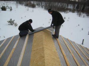ремонт мембраны зимой