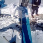 Чиста кровли торгового центра от снега в г. Ступино
