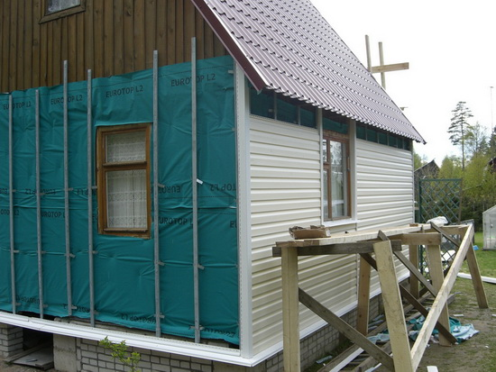 ремонт фасада дачи