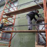 Работы по мытью фасада частного дома в Подмосковье