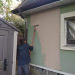 Покраска фасада коттеджа