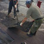 Начало работ по ремонту дома для военнослужащих