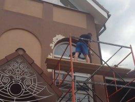 Косметический ремонт фасада частного дома