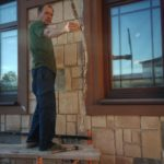 Начало ремонта фасада частного дома