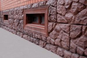отделка цоколя под камень