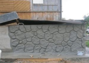 декоративный камень из плиточного клея