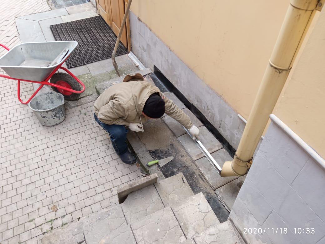 капитальный ремонт отмостки